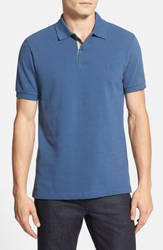 Burberry Brit Modern Fit Piqué Polo | Nordstrom