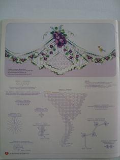 Artes em Crochê e Pintura: Croche - Flores - Barradinhos