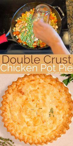 Chicken Pie Recipe Easy, Best Chicken Pot Pie, Easy Pie Recipes, Chicken Pot Pie Recipe Double Crust, Easy Pot Pie Recipe, Campbells Chicken Pot Pie, Easy Chicken Dishes, Easy Healthy Chicken Recipes, Chicken Pot Pie Casserole