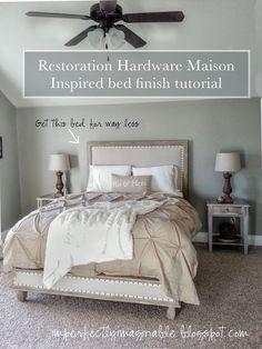Imperfectamente Imaginable: Restauración tutorial acabado Hardware para la cama Maison Inspirado