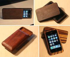 hand made wooden iphone cases