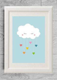 rainbow cloud print for nursery, boy nursery rainbow poster #rainbownursery #rainbowprint #kidsrainbow #rainbowdecor #nurserydecor #nurseryprint #nurseryideas #babygift #birthgift #nurserygift #babyshowergift #newborngift #newmomgift #babydecor #giftforbabyshower #giftfornursery