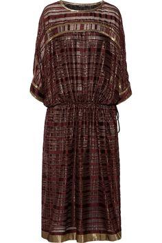 ETRO Metallic Silk-Blend Dress. #etro #cloth #dress