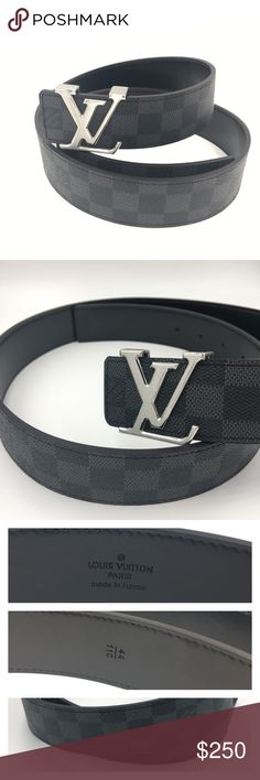 6ea898d3a0d5 Louis Vuitton Damier Belt 44 110 LV Initial Men s 110cm long (43