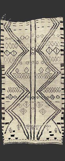 ☘ Africa | Berber carpets | Beni Ouarain carpet