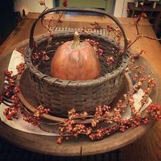 Wood Basket Fall Home Decor Holiday Autumn Ideas