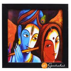 Abstract radha krishna