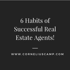 Being a real estate agent can be a difficult job at times. But, like any other job, there are ways in which you can reduce your own stress and improve your productivity. Let's take a look at 6 habits of successful real estate agents. 6 Habits of Successful Real Estate Agents Here are 6 habits…