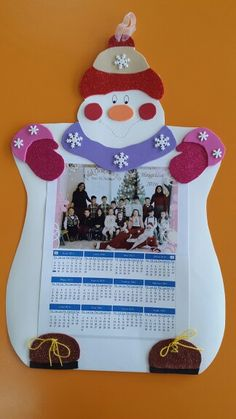 Gift calendar or photo frame Christmas Arts And Crafts, Winter Crafts For Kids, Winter Fun, Christmas Projects, Christmas Photos, Diy For Kids, Gifts For Kids, Christmas Ornaments, Winter Wonderland Party