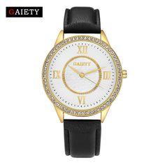 >> Click to Buy << Gaiety Brand Luxury Quartz Wrist Watch Leather Strap Wristwatch Fashion Women Ladies Gold Stainless Steel Clock Watch G160 #Affiliate