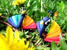 peacocks earrings