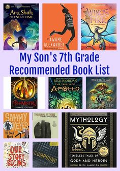 My Son's Grade Recommended Reading List + Abandoned Books. 7th Grade Reading List, 7th Grade Ela, Reading Lists, Book Lists, Books For Tweens, Books For Boys, Middle School Books, Middle School Libraries, Best Children Books