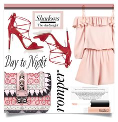 """Day to Night: Nude Shadow"" by sonny-m ❤ liked on Polyvore featuring Valentino, Aquazzura and MAC Cosmetics"