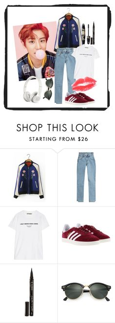 """""""PCY"""" by xxelectre on Polyvore featuring MABEL, Vetements, Off-White, adidas, Max Factor, Smith & Cult, Ray-Ban and Beats by Dr. Dre"""