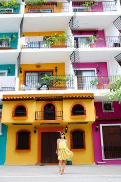 Casa de colores en l