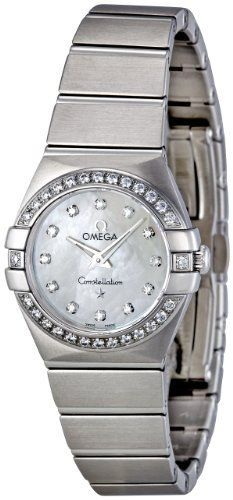 Omega Women's Mother-of-Pearl Dial Diamond Accent Watch   Constellation