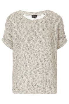 Knitted Boucle Lace Back Top