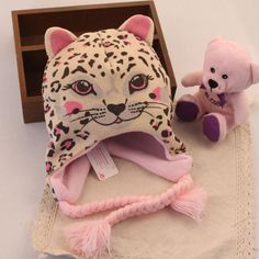 Thicken Autumn And Winter Baby Animal Hats Cute Leopard Cotton Hats For Kids $14.00 #Lovejoynet #Animal #Hats