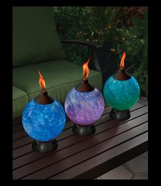 The Glowing Tabletop Torches Are Such An Easy And FUNCTIONAL Way To Add  COLOR To Your