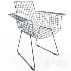 Geometric Furniture, Wire Chair, Suspension Design, Metal Structure, Metal Chairs, Modern Interior, Models, Dimensions, Scandinavian