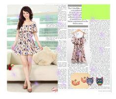 """""""Women Chiffon Multi-Coloured Dress"""" by profireli ❤ liked on Polyvore"""
