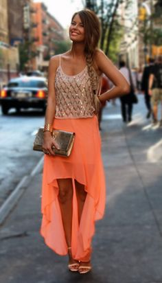orange - my daughter's favorite Pintrest outfit AND SHE'S 11... great taste; she's starting young.
