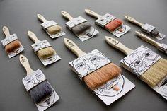 Hairy Paintbrushes by Sylvain Allard