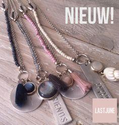 Wouw, nieuwe kettingen bij LASTJUNE!! Deze 'Beach Memories' zijn verkrijgbaar in vier te gekke kleuren!  Kijk snel op www.lastjune.nl