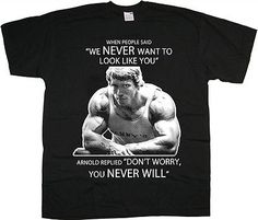 Mens #arnie glr arnold #schwarzenegger gym bodybuilding workout tee #shirt t-shir,  View more on the LINK: http://www.zeppy.io/product/gb/2/222036009344/