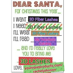 Younique Christmas gifts 3d fiber lashes and more.  Youniqueproducts.com/racheljohnson