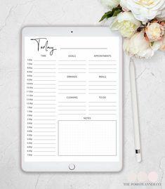 minimal daily planner #digitalplanners #planners #digitalplanning #plannerideas #plannerdecorating #theposhplannerco #plannergirl #digitalbujo
