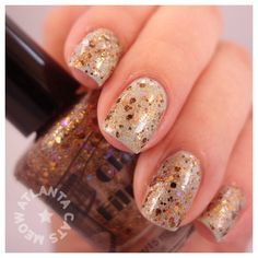 Classic Films Nail Lacquer Sunset Blvd. over Chanel Riva