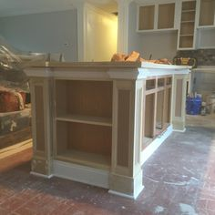 vs a standout leg? Diy Kitchen Island, Kitchen Redo, Home Decor Kitchen, New Kitchen, Home Kitchens, Kitchen Remodel, Kitchen Design, Kitchen Island End Panels, Kitchen Refacing