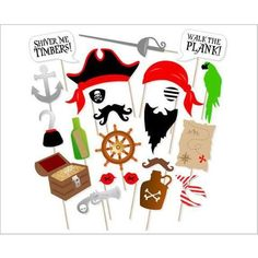 Pirate Photo Booth Props DIY Kit Dress-up Accessories for Fun Reunions Birthdays Family Party, 22 pieces Be sure to check out this awesome product. (This is an affiliate link) Pirate Photo Booth, Funny Photo Booth, Diy Photo Booth Props, Photo Booths, Pirate Decor, Pirate Theme, Fun Party Themes, Birthday Party Decorations, Party Ideas