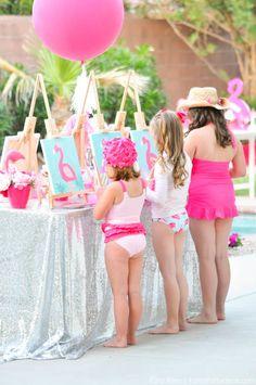 Flamingo themed pool art party by Kara's Party Ideas | Kara Allen | KarasPartyIdeas.com 3