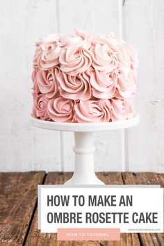 How to make an Ombre Rosette Cake in simple easy steps. Great Desserts, Dessert Recipes, Recipes Dinner, Pasta Recipes, Crockpot Recipes, Soup Recipes, Breakfast Recipes, Vegetarian Recipes, Chicken Recipes