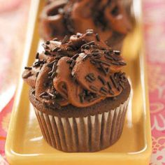 Special Mocha Cupcakes Recipe from Taste of Home -- shared by Mary Bilyeu of Ann Arbor, Michigan