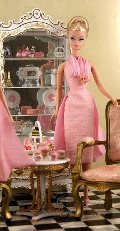 """""""Pink Ladies Have Tea 1"""" by Rebecca (think_pink1265)    blogged about at insidethefashiondollstudio.com/2011/03/30/the-pink-ladies...   25 March 2011"""