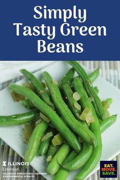 A little bell pepper, onion, and garlic salt really make these green beans great! #sides #greenbeans #simplesides #simplegreenbeans #healthyside