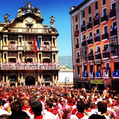 Snapped this at opening ceremony of San Fermin in Pamplona, Spain 2013