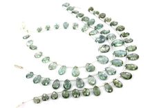 Moss Aquamarine Faceted Pear (Quality A+) / 5x7 to 8x11 mm / 5 to 7 Grms / 18 cm / AQUA-009 by GemstoneWholesaler on Etsy