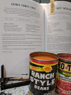 Easy recipe. 3 of the ranch style Beans and two cans of the tomatoes. Did only 1lb of ground beef and added about 4 strips of thick cut bacon cut up. Cookbook is Magnolia Table Chilli Recipes, Bean Recipes, Mexican Food Recipes, Copycat Recipes, Ranch Beans Recipe Ground Beef, Magnolia Kitchen, Magnolia Table, Magnolia Foods