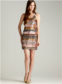 ROMEO COUTURE MULTI SEQUINED TANK DRESS