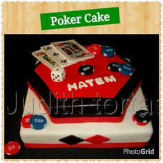Poker Cake, fondant.