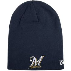 Milwaukee Brewers New Era Team Slouch Knit Beanie - Navy - $22.99