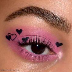 Emo Makeup, Indie Makeup, Grunge Makeup, Eye Makeup Art, Skin Makeup, Kawaii Makeup, Makeup Inspo, Pastel Goth Makeup, Weird Makeup