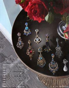 Neiman Marcus Cataloge tear sheets with Jose and Maria Barrera jewelry Bead Jewellery, Jewelry Art, Beaded Jewelry, Jewelery, Handmade Jewelry, Jewelry Design, Jewelry Ideas, Starburst Earrings, Gold Statement Earrings