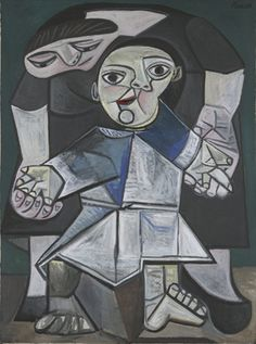 Pablo Picasso / Mother and Child (First Steps) / 1943 / Oil on canvas / Yale Art Gallery  Love the blue period.  You know I haven't seen this since elementary school when I had to draw this with pastels in art class....I'm sure it's buried somewhere in my sister's garage.