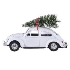 House Doctor julepynt - XMAS CAR i hvid med juletræ Christmas Car Decorations, Beautiful Christmas Decorations, Holiday Decor, Holiday Ideas, House Doctor, Driving Home For Christmas, Christmas Home, White Christmas, Vintage Christmas