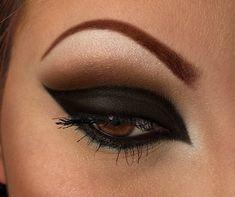 Black winged eyeshadow #eyes #eye #makeup #black #dark #dramatic